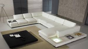 living room modern soft black leather sectional sofa set 44l0693