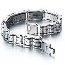 chain bracelet men images Heavy duty stainless steel men 39 s bike chain bracelet jpg