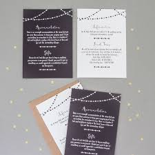 Accommodation Cards For Wedding Invitations Fairy Light Wedding Invitation And Rsvp By The Two Wagtails