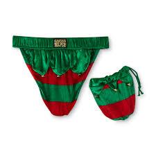 joe boxer men u0027s christmas thong underwear u0026 gift bag elf