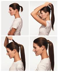 ponytail hair us 100 real new clip in hair extension pony wrap around