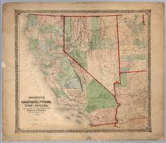 Map Of Nevada And Utah by Bancroft U0027s Map Of California Nevada Utah And Arizona David