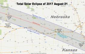 Map Of The State Of Kansas by Totality Maps By State U2013 American Eclipse 2017