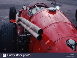 pink maserati maserati 250f grand prix formula 1 car from the 1950s viewed from