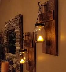 Jar Candle Wall Sconce 38 Best Rustic Candle Holders Images On Pinterest Rustic Candles