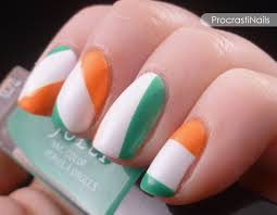 get lucky nail art challenge irish flag or irish candy who knows