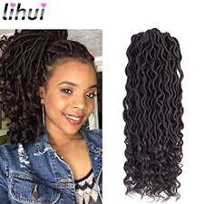 hair crochet lihui 6pcs lot goddess locs faux locs crochet hair