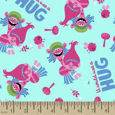 Halloween Flannel Fabric Trolls U Could Use A Hug 43 44