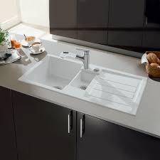 B Q White Kitchen Sinks Villeroy U0026 Boch Flavia 60 1 5 Bowl White Ceramic Kitchen Sink