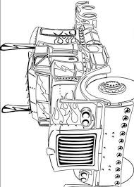 transformers coloring books pictures truck optimus prime