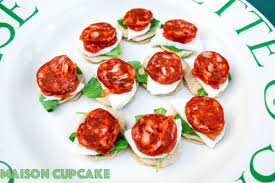 bellini canape chorizo canapes recipe with mozzarella and rocket