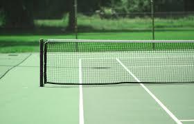 tennis court photography modern architectural landscape