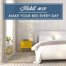 habit 10 make your bed every day