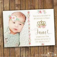 Invitation Card Design Christening Baptism Invitation Floral Christening Invitation For A