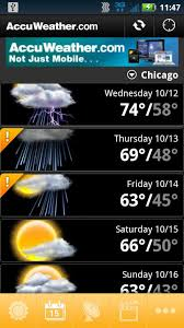 accuweather android app accuweather for android free and software reviews