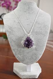 natural amethyst necklace images Natural amethyst pendant for necklace druzy with necklace silver jpg