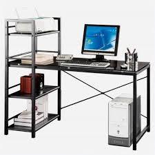 Black Glass Computer Desk Black Computer Desk