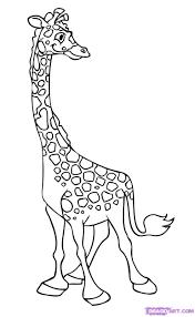 how to draw a cartoon giraffe step by step cartoon animals