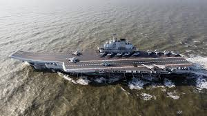 china u0027s carrier ties up at specially built giant dock in s china