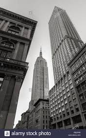 Art Deco Style Black U0026 White Low Angle View Of The Art Deco Style Empire State