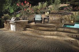Retaining Wall Patio Design Custom Patio Design Retaining Wall And Landscape Design