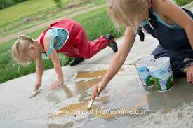 rainy day activity for preschoolers painting with mud