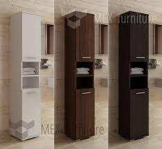 Bathroom Floor Storage Cabinet Bathroom Narrow Bathroom Wall Cabinet White Furniture Tower In