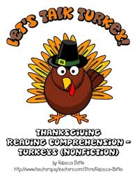 thanksgiving reading comprehension freebie turkey nonfiction