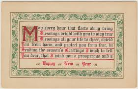 new year post cards vintage new year postcards with poems laurel cottage genealogy