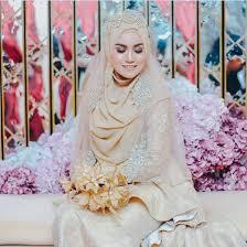 tutorial hijab syar i untuk pengantin dwi lestari inspirasi hijab pengantin dari malaysia dream co id