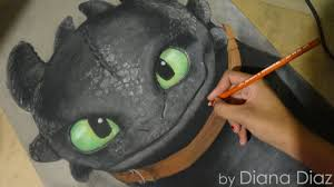 speed drawing toothless chimuelo train dragon