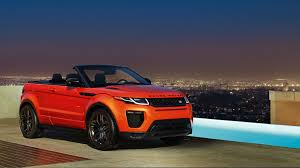 land rover orange range rover evoque convertible