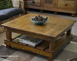 rustic coffee table with storage rustic coffee table etsy