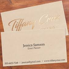 Business Cards With Foil 2 Sided Business Cards With Foil Or Emboss