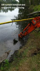 creek bank stabilisation in action aust care environmental services