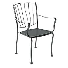 Woodard Belden Padded Sling Aluminum Wrought Iron Chairs