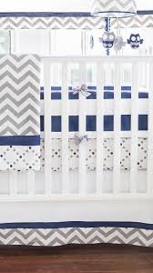 Baby Boy Chevron Crib Bedding Out Of The Blue 3 Pc Crib Set Interiordecorating
