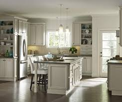White Painted Cabinets With Glaze by Creamy Glazed Cabinets In Casual Kitchen Homecrest