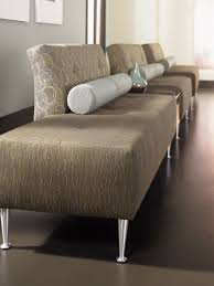 contemporary upholstered bench fabric for public buildings modern