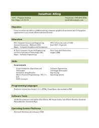 Resume Sample For Programmer by 13 Student Resume Examples High And College
