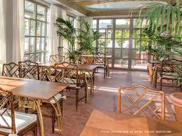winter garden restaurant at hotel palace barcelona shops