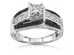white and black diamond engagement rings cheap black diamond wedding rings cheap black diamond wedding