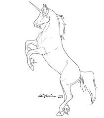 unicorn lineart by kholran on deviantart