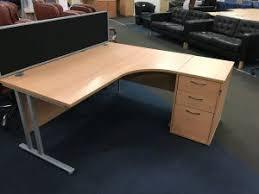 Corner Desk Beech Corner Desks New Used Office Furniture Glasgow Scotland