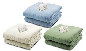biddeford blankets heated electric knit blanket groupon