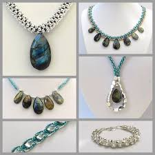 drop beads necklace images Kumihimo with labradorite drops jpg