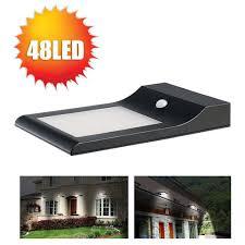 solar powered outdoor motion lights 48 leds solar powered led motion sensor light outdoor street l