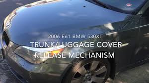 bmw e61 2006 530xi fix for luggage trunk cover release mechanism