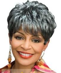 gray hair pieces for american inch elegant short curly gray african american wigs for women