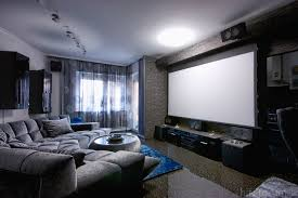 home theater design nyc elegant living room with home theatre system rendering royalty